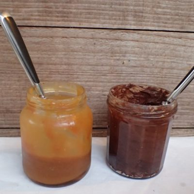 caramel au beurre salé et chocolat faits maison!